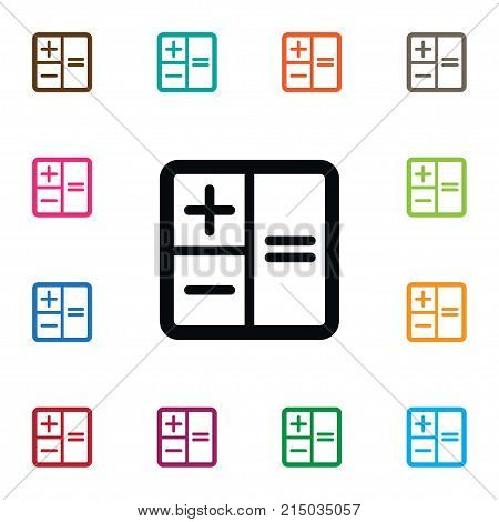 Calculator Vector Element Can Be Used For Calculator, Calculate, Subtraction Design Concept.  Isolated Subtraction Icon.