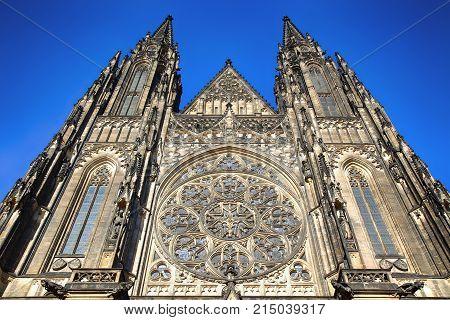 St. Vitus Cathedral in Prague Castle in Prague Czech Republic