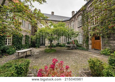Hospital of the Holy Ghost or Aalborg Kloster in the old town of Aalborg in Denmark