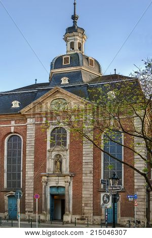 The St. Maximilian is a gorgeous church with an iconic steeple Dusseldorf Germany