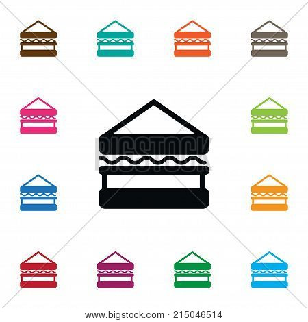 Sandwich Vector Element Can Be Used For Burger, Sandwich, Toast Design Concept.  Isolated Triangle Snack Icon.