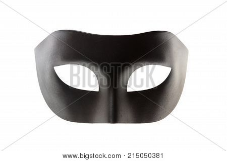 Black Carnival Mask Isolated On White Background