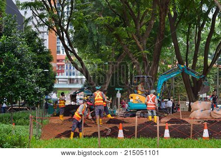 Public Park Developing Works. Singapore