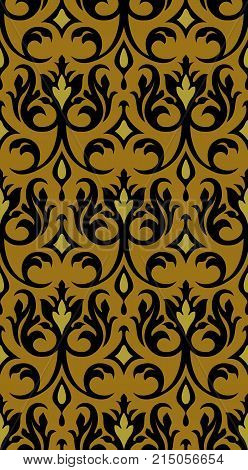 regency inspired abstract pattern of brocade shapes