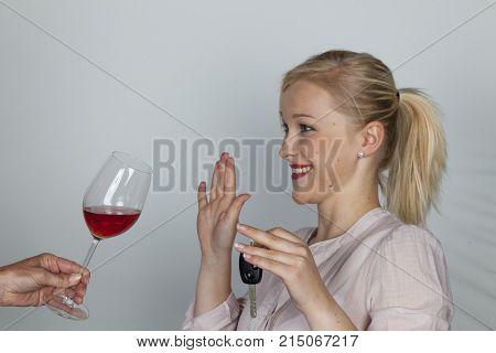 car driver refuses alcohol