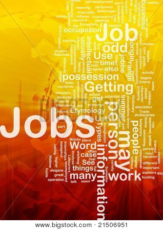 Background concept illustration of jobs work employment international