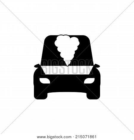 open hood car icon on white background