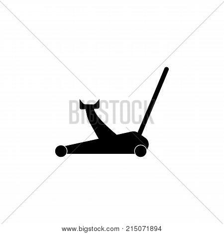 Car hydraulic jack icon on white background