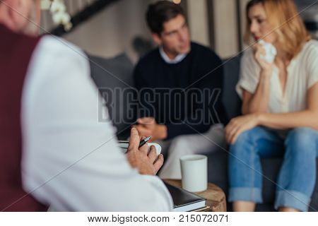 Psychotherapist Counseling Young Couple
