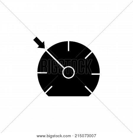 car Speedometer dashboard Icon on white background