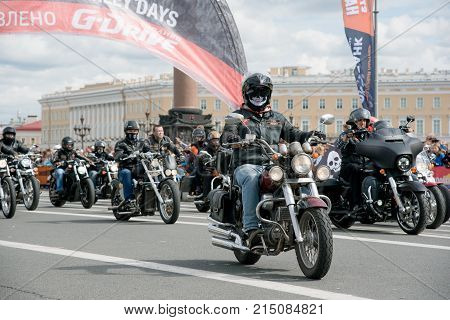 Saint Petersburg. Russia - August 13 2016. Harley Davidson Days. World Bike Festival In Russia