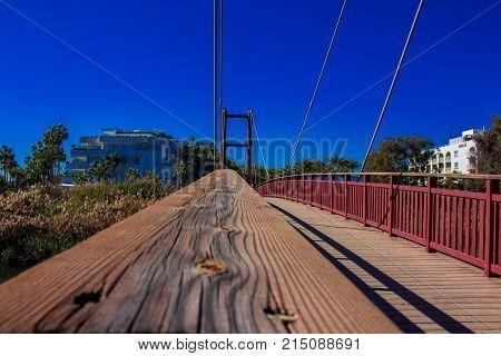Bridge. Puerto Banus, Marbella, Costa del Sol, Andalusia, Spain.