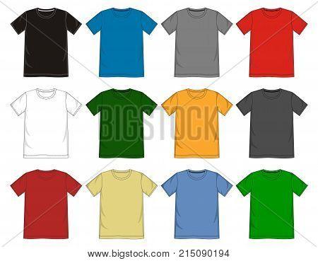 T Shirt Template R-neck.eps