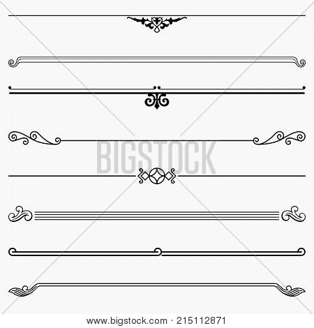 Set of eight decorative simple short dividers