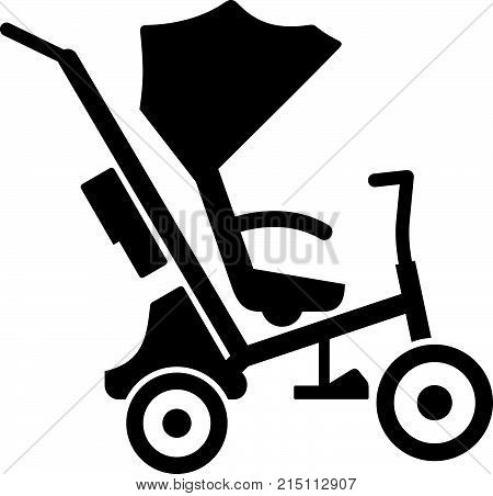 Baby tricycle stroller with canopy, shade picture