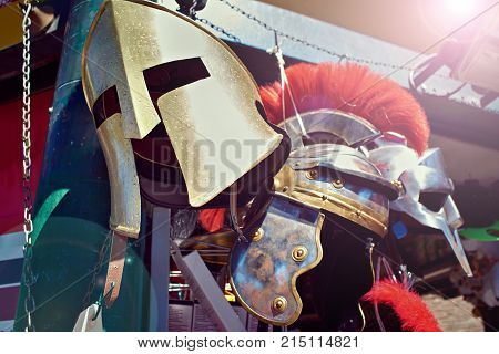 The helm of the Roman Gladiator's Warrior