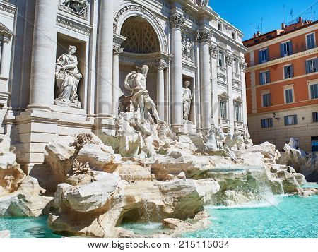 The Trevi Fountain or Fontana di Trevi