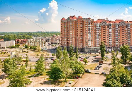 View Of The Obolon District Of Kiev