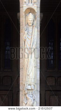Saint Marcel, Notre Dame Cathedral, Paris, Portal of St. Anne poster