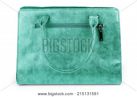Purple clutch bag isolated on white background