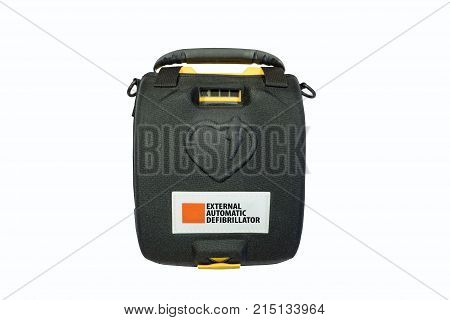 Life defibrillator Automatic External hart defibrillator pack on the
