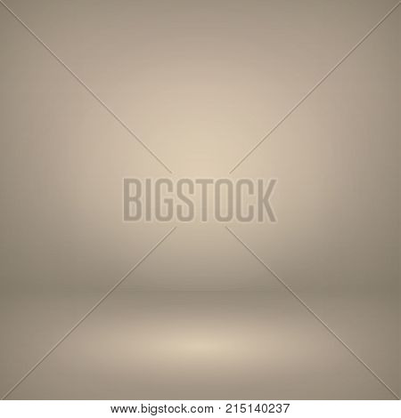 Vector of light beige (ivory) empty studio room background, template mock up for display of content or product.