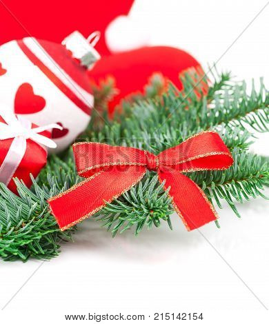 christmas decoration ball, isolated on white background