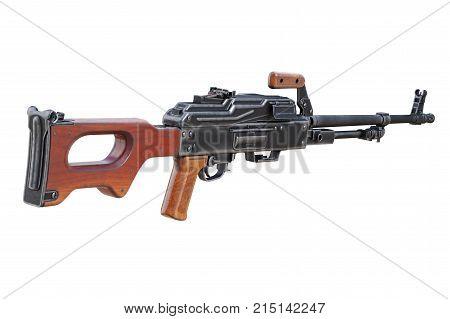 Gun machine military army equipment. 3D rendering