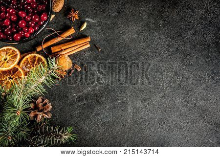 Ingredients For Christmas Baking And Drinks