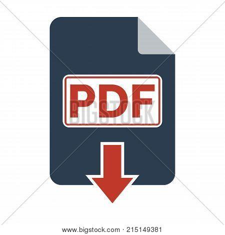Pdf Icon On White Background.