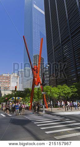 Manhattan, New York. Sculpture