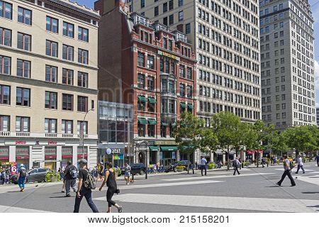 New York, Manhattan. Barnes & Noble Bookstore On Union Square.