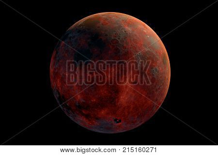 This image represent a generic volcanic moont. It is a realistic 3d rendering