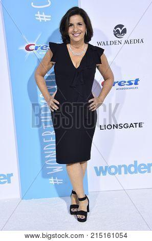 LOS ANGELES - NOV 14:  R.J. Palacio arrives for the 'Wonder' World Premiere on November 14, 2017 in Westwood, CA