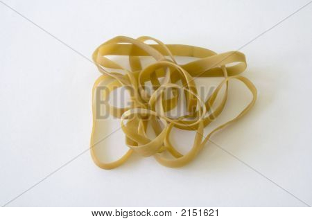 Rubber Bands On White Background