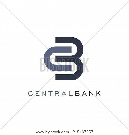 Abstract lock icon, linear style, bank vector logo template. Currency exchange and finance operations.