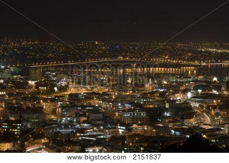Auckland New Zealand Harbour Bridge At Night