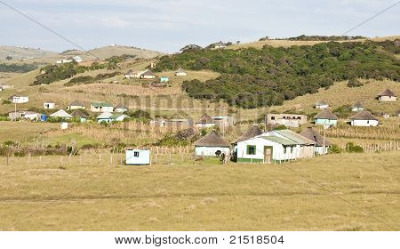 Shacks in Transkei South Africa corrugated iron homes