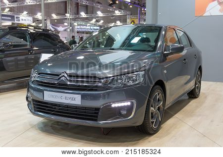 ATHENS, GREECE - NOVEMBER 14, 2017: Citroen C-Elysee at Aftokinisi-Fisikon 2017 Motor Show.