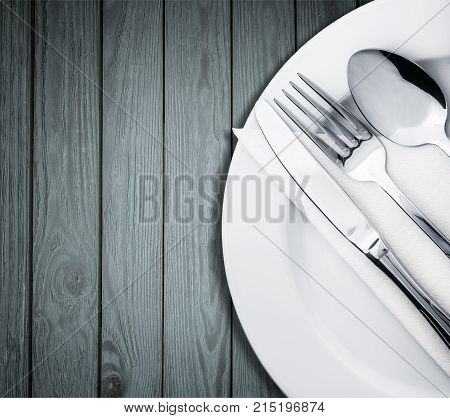 Fork  spoon and knife on plate knife spoon plate fork group white