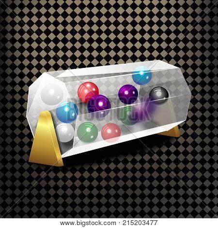 Bingo lottery balls numbers background. Lotto keno winner. Gamble isolated leisure