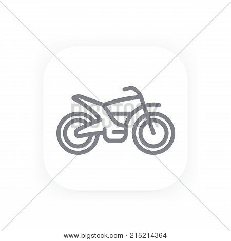 offroad bike line icon, motorcycle vector pictogram, eps 10 file, easy to edit