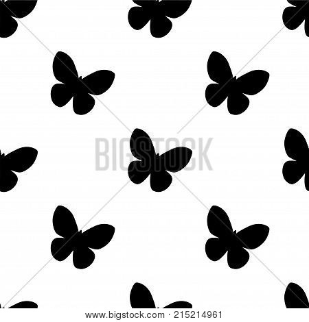 Abstract Seamless Butterfly Pattern For Girls Or Boys. Creative Vector Background With Butterfly, Wi