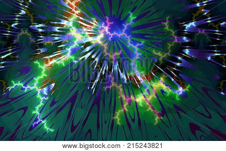 Abstract background depicting brainstorming work of intellect explosion or salute.