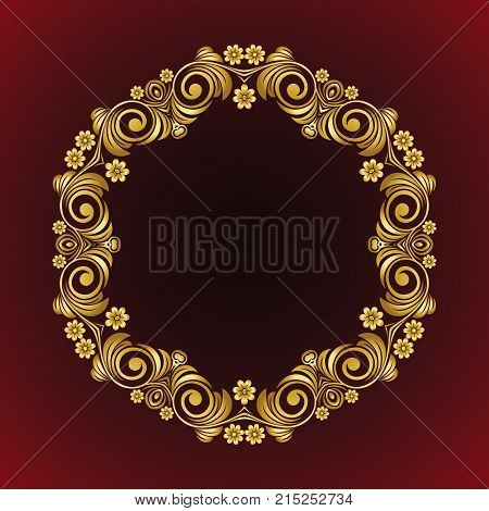 Vector vintage Mandala sign frame with flowers and floral ornament. Vintage decorative elements. Oriental pattern, vector illustration. Islam, Arabic, Indian, turkish, pakistan, chinese, ottoman motif