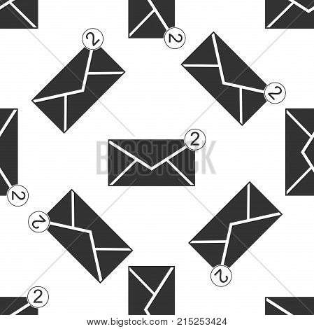 Received message concept. New, email incoming message, sms. Mail delivery service. Envelope icon seamless pattern on white background. Flat design. Vector Illustration
