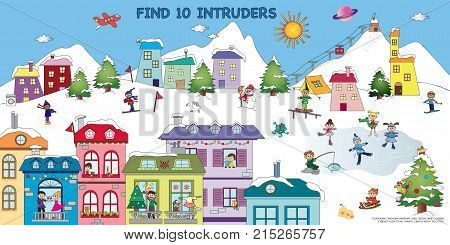 Game for children : find ten intruders