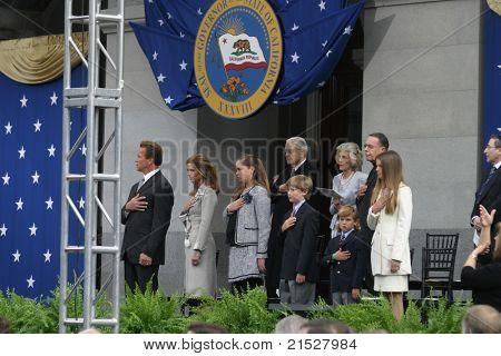 SACRAMENTO - NOV 17: Arnold Schwarzenegger; Maria Shriver; family at the Governor Swearing In Ceremony at the Capitol in Sacramento, California on November 17, 2003