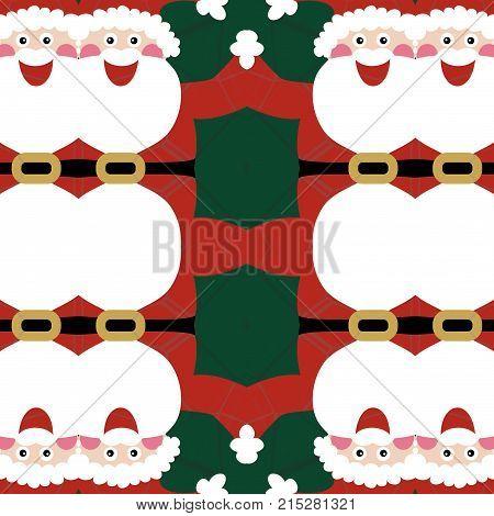 A seamless Christmas santa claus background design.