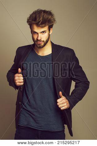 Excited Handsome Man Or Bodybuilder